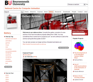Online Innovations Gallery screen